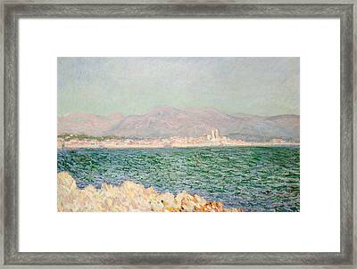 Gulf Of Antibes Framed Print by Claude Monet