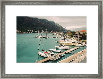 Gulf Of Kotor Framed Print