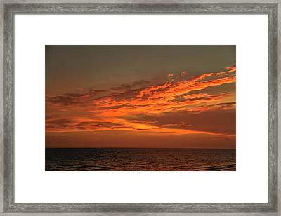 Gulf Of Mexico Sunset Framed Print by Theresa Campbell