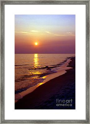 Gulf Of Mexico Sunset Framed Print by Thomas R Fletcher