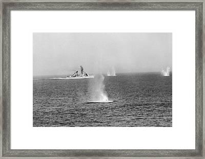 Gulf Of Tonkin Warfare Framed Print