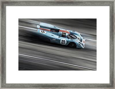 Gulf Porsche 21 Framed Print