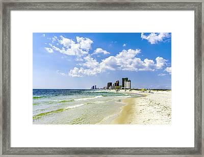 Gulf Shores Al Beach Seascape 1746a Framed Print