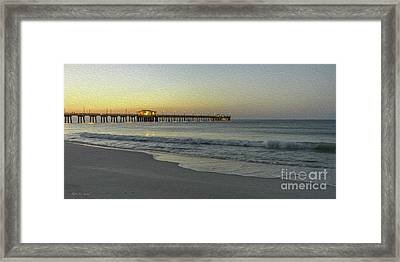Gulf Shores Alabama Fishing Pier Digital Painting A82518 Framed Print