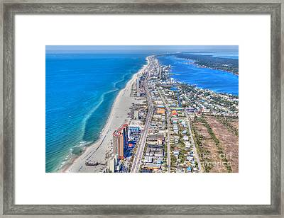 Gulf Shores Beach Looking W Framed Print