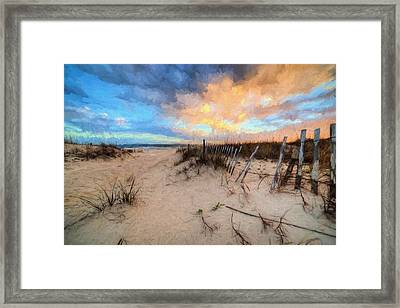 Gulf State Park In Orange Beach Framed Print by JC Findley