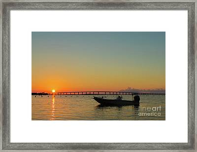 Gulf Sunrise Framed Print by Donna Schumann