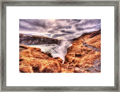 Gulfoss Waterfall Iceland 2nd Tier Framed Print