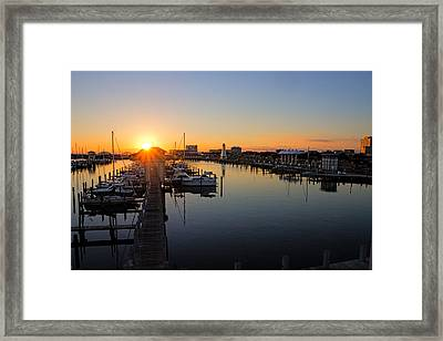 Gulfport Harbor Sunset Framed Print