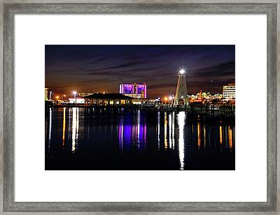 Framed Print featuring the photograph Gulfport Lighthouse - Mississippi - Harbor by Jason Politte