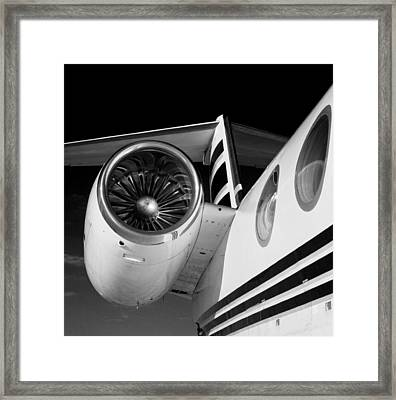 Gulfstream Right Side And Engine Framed Print