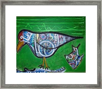 Gull Framed Print by Dave Kwinter