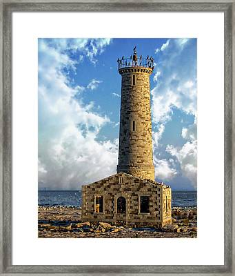 Gull Island Lighthouse Framed Print
