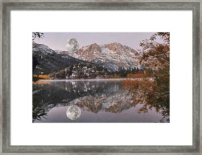 Gull Lake Just Before Sunrise Framed Print