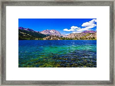 Gull Lake Near June Lakes California Framed Print