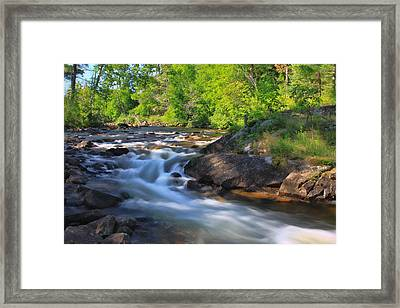 Gull River Falls - Gunflint Trail Minnesota Framed Print