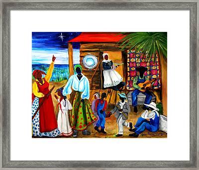 Framed Print featuring the painting Gullah Christmas by Diane Britton Dunham