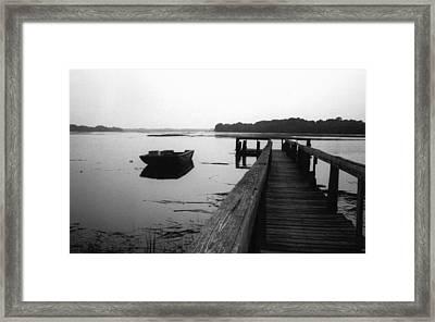 Gullah Coast Bateau Bw Framed Print