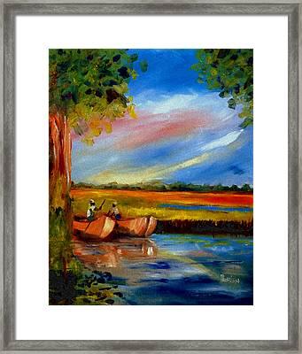 Gullah Lowcountry Sc Framed Print by Phil Burton