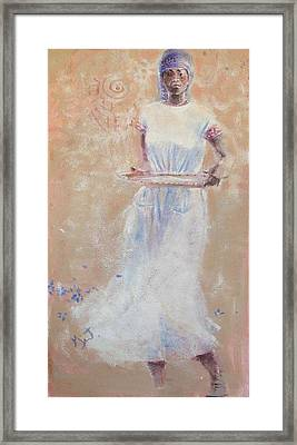 Framed Print featuring the painting Gullah Princess by Gertrude Palmer