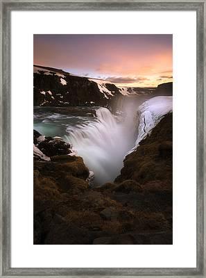 Gullfoss Framed Print by Tor-Ivar Naess