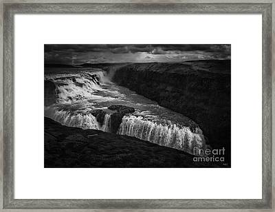 Gullfoss Waterfall Framed Print