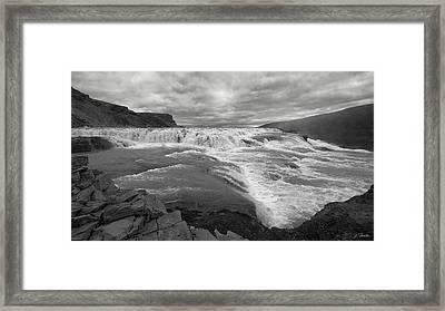 Framed Print featuring the photograph Gullfoss Waterfall No. 1 by Joe Bonita