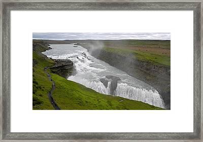 Framed Print featuring the photograph Gullfoss Waterfall No. 2 by Joe Bonita