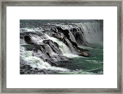 Framed Print featuring the photograph Gullfoss Waterfalls, Iceland by Dubi Roman