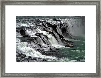 Gullfoss Waterfalls, Iceland Framed Print
