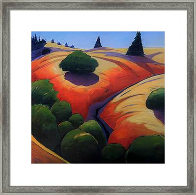 Framed Print featuring the painting Gully by Gary Coleman