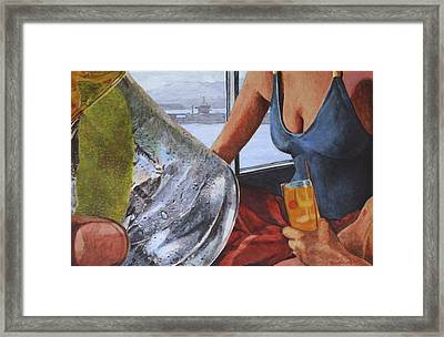 Gulp Framed Print by Perry Woodfin