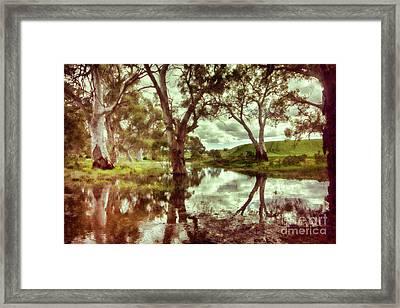Framed Print featuring the photograph Gum Creek V2 by Douglas Barnard
