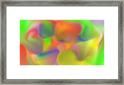 Gum Drop Abstraction Framed Print by Steven Harry Markowitz
