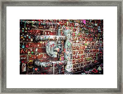 Framed Print featuring the photograph Gum Drop Alley by Spencer McDonald