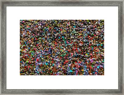 Gum Wall Framed Print