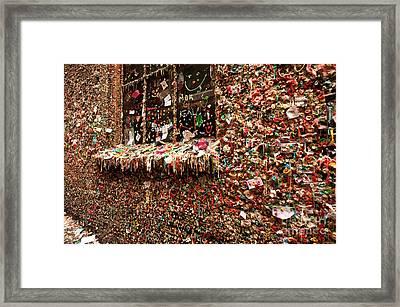 Gum Wall Pike Place Market Gum Wall Framed Print by Jim Corwin