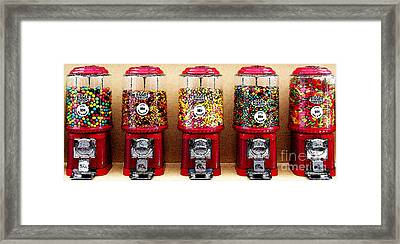 Gumball 5 . Digital Interpretation Framed Print by Wingsdomain Art and Photography
