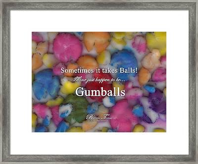 Gumballs #0000d Framed Print by Barbara Tristan