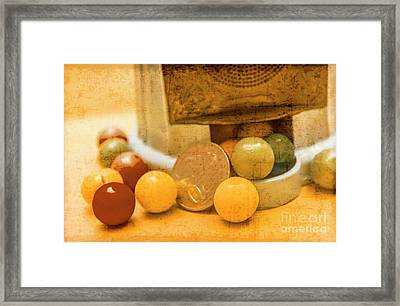 Gumballs Dispenser Antiques Framed Print by Jorgo Photography - Wall Art Gallery