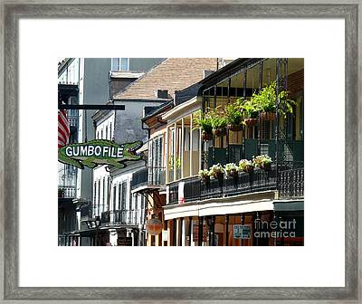 Gumbo File Framed Print