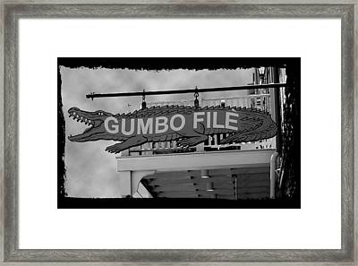 Gumbo File Framed Print by Linda Kish