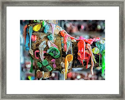 Gummed Up Framed Print by Stephen Stookey
