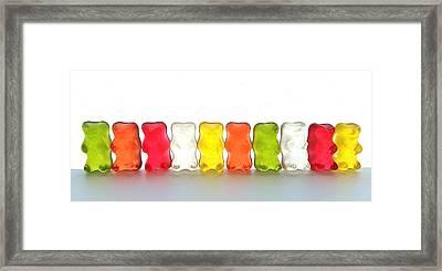 Gummy Bears In A Row Framed Print