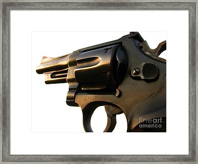 Gun Series Framed Print by Amanda Barcon