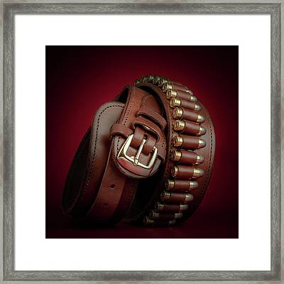 Gunbelt Bandolier Framed Print by Tom Mc Nemar
