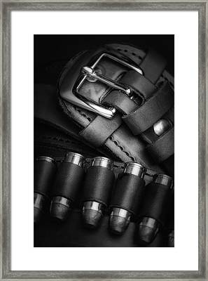 Gunbelt Framed Print by Tom Mc Nemar
