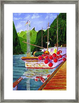 Gunboat Slough Bouys Framed Print by Buster Dight