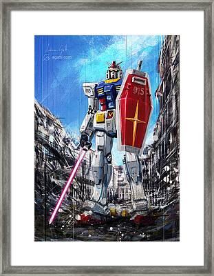 Gundam Lingotto Saber Framed Print