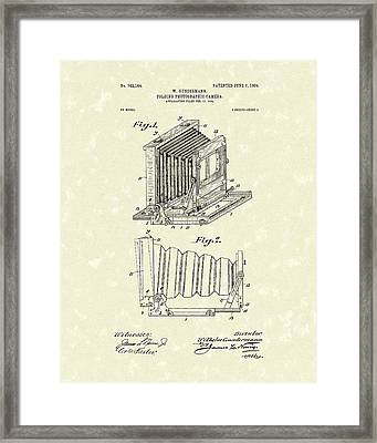 Gundermann Photographic Camera 1904 Patent Art Framed Print